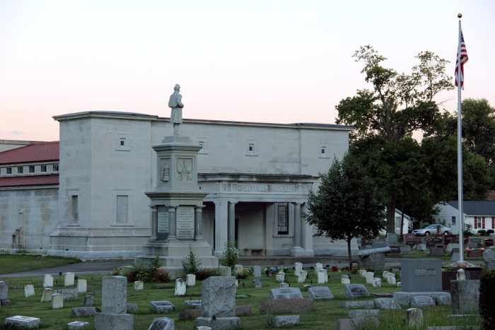 Mausoleum with Veteran's Monument